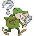Sherlock holmes searching for clues vector image