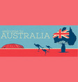 welcome to australia vintage poster vector image