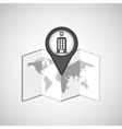 travel concept location map hotel pin design vector image