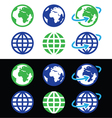 Globe earth icons in color vector image vector image