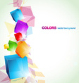 colorful cube abstract design vector image