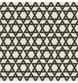 six-pointed star monochrome seamless pattern vector image