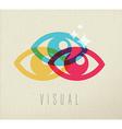 Visual eye view icon concept color design vector image