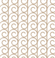 Elegant seamless pattern with beige swirls vector image