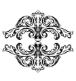Antique vintage floral ornament on white vector image