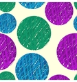 hand drawn colorfull circles vector image