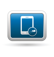 Phone with renew menu icon vector image