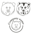 set of logos with the image of a bear vector image
