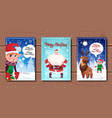 set of merry christmas and happy new year posters vector image