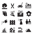 silhouette lawn icons vector image