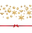 White isolated card with christmas balls EPS 10 vector image
