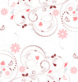 Floral background with vintage flower pattern and vector image