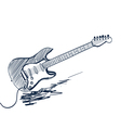 electric guitar sketch vector image vector image