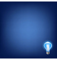 Blue Bulb With Background vector image