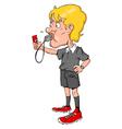 Soccer Referee vector image