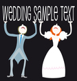 wedding cartoon couple vector image vector image