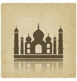 Taj Mahal on old background vector image