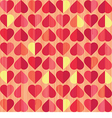 retro heart seamless pattern vector image