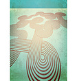 Aged card with retro ribbons vector image
