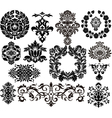 damask elements vector image