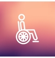 Disabled person thin line icon vector image