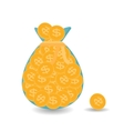 Full bag plus one Gold Coins - Contribution to vector image