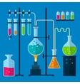 Laboratory equipment concept vector image