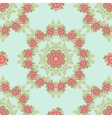 Seamless Pattern Mandala Roses On Blue vector image