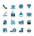 Shopping and mall icons vector image vector image