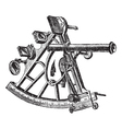 Sextant vintage engraving vector image