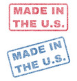 made in the us textile stamps vector image