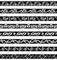 Black White ornament border designs vector image