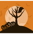 raven in a tree vector image