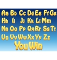 Cartoon fonts for graphic and web designers vector image