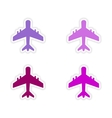 assembly realistic sticker design on paper planes vector image