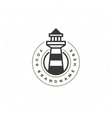 Lighthouse Design Element in Vintage Style for vector image