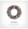 group people shape letter O vector image