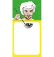 Chef Offers to Get Acquainted With the Menu vector image