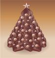 Christmas tree chocolate v vector image
