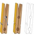 Clothespin vector image