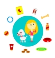 Dog Supplies vector image