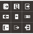 exit icons set vector image