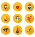 flat icons princess Snowdrop vector image