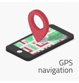 GPS navigation in phone vector image