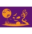 Halloween night flat style vector image