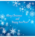 merry christmas and happy new year - background vector image