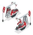 Oil pump Oil pump oil rig energy industrial vector image