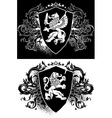 ornamental heraldic shield vector image