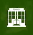 School Building Painted with Chalk on Blackboard vector image