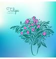 Tulips in vase vector image
